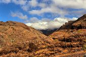mountain landscape of the island of La Gomera. Canary Islands. Spain