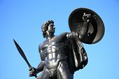 stock photo of duke  - The Victorian bronze Achilles statue known as the Wellington Monument at Hyde Park Corner - JPG