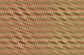 Intertwined grid - tomato and spring green weave.