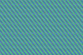 Intertwined grid - mint green and violet weave.