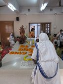 KOLKATA, INDIA - JAN 27, 2009: Tomb of Blessed Teresa of Calcutta, commonly known as Mother Teresa (