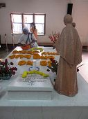 KOLKATA, INDIA - JAN 27, 2009: Tomb of Blessed Teresa of Calcutta, commonly known as Mother Teresa (26 Aug 1910-5 Sep 1997), was Catholic missionary who lived for most of her life in India