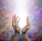 Male healing energy and rainbow matrix
