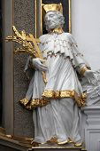 WURZBURG, GERMANY - JULY 18: Statue of saint, Wurzburg Cathedral dedicated to St Kilian is the fourt