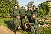 TIKHVIN, RUSSIA - JULY 9, 2014: Security service of celebrations on the occasion of the 10th anniver