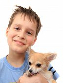 Boy And Chihuahua