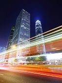 picture of hong kong bridge  - Traffic in Hong Kong at night - JPG