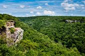 stock photo of alabama  - High view of Little River Canyon Federal Reserve in northern Alabama - JPG