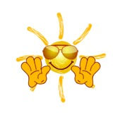 Greetings From The Sun Vector Illustration