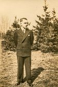 GERMANY, CIRCA FORTIES - Vintage portrait of boy at his Confirmation