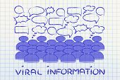 picture of ebusiness  - conceptual representation of communication news and information sharing in a crowd or social media platform - JPG