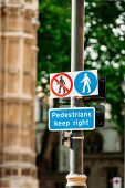 Pedestrian Keep Right Sign