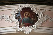 SCHMERLENBACH, GERMANY - JULY 19: Angel, Sanctuary of St. Agatha in Schmerlenbach in the Diocese of