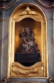 SCHMERLENBACH, GERMANY - JULY 19: Pieta, Sanctuary of St. Agatha in Schmerlenbach in the Diocese of