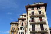 RAPALLO, LIGURIAN COAST, ITALY - MAY 04: building facade on May 04, 2014, in Rapallo, Italy