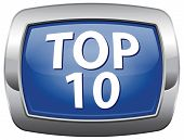 top 10 charts ranking blue vector icon list pop poll result button and award winners chart ranking m