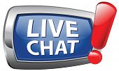 chat live vector icon or button