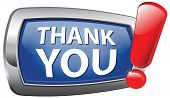 Thank you note saying many thanks a lot sign expressing gratitude blue vector icon