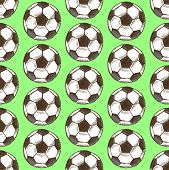 Sketch Football Ball, Vector Seamless Pattern