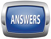 search answers and find the truth, findings solutions solving problems and the answer, blue vector i
