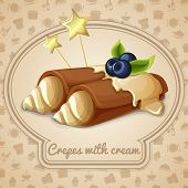 Crepes with cream emblem