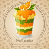 Fruit praline badge