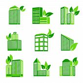 Building eco icon