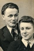 GERMANY, CIRCA THIRTIES - Vintage photo of young couple