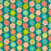 Vintage Vintage Seamless Pattern With Small Flowers