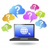 Question Mark Web And Internet Concept