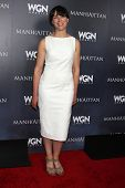 LOS ANGELES - JUL 9:  Olivia Williams at the WGN Series Manhattan Photo Op July 2014 TCA at the Beve