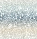 Pastel Seamless Vector Mandala Pattern