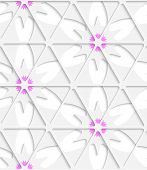 White Triangular Net And Pink Seamless