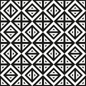 Geometric Abstract Monochrome Pattern Vector Seamless Texture