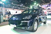 Nonthaburi - December 1: Porsche Cayenne S E- Hybrid Car Display At Thailand International Motor Exp