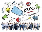 Diverse Corporate Business People Marketing Brand Concept