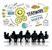 Teamwork Team Together Collaboration Corporate Business Meeting Concept