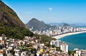 picture of ipanema  - Aerial view of Ipanema and Leblon Beach and Vidigal Favela - JPG
