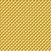 Seamless golden geometric relief texture. Vector art.