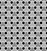 Hexagons tiled pattern. Seamless geometric texture. Vector art.
