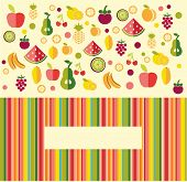 Fruits Background - Illustration