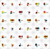 Company vector logo branding design elements. Set of abstract shaped vector symbols.