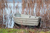 pair-oar boat at a berth