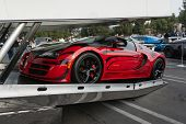Bugatti Veyron Entering Enclosed Auto Transport
