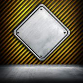 iron plate on striped background