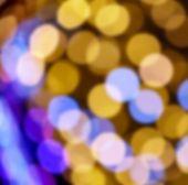 defocused bokeh christmas lights