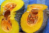 Fresh Yellow Pumpkin On The Market