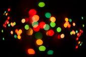 Glitter Multicolored Defocused Festive Lights