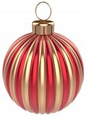 Christmas Ball Decoration New Years Eve Bauble Gold Red