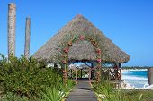 Wedding gazebo on the Caribbean coast.